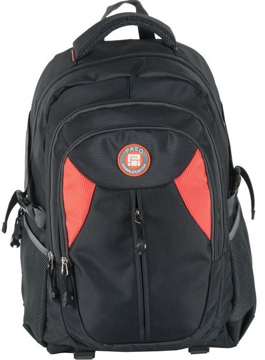 Молодежный рюкзак PASO 28L, 17-30059 черный, фото 1