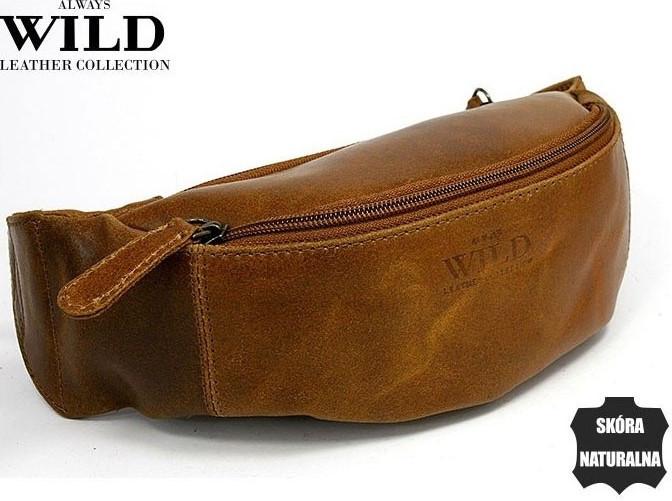 Кожаная сумка на пояс  Always Wild WB01SP cognac, фото 1