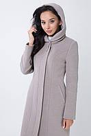 Женское пальто с капюшоном. Кашемировое пальто 48-58 большие размеры