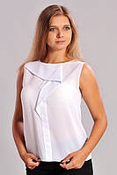 Нарядная шифоновая блуза  без рукавов