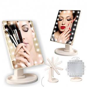 Настольное зеркало с подсветкой Large 16 LED Mirror, фото 2