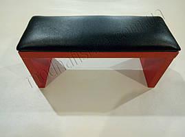 Маникюрная подставка для рук (Подлокотник) черного цвета на красных ножках