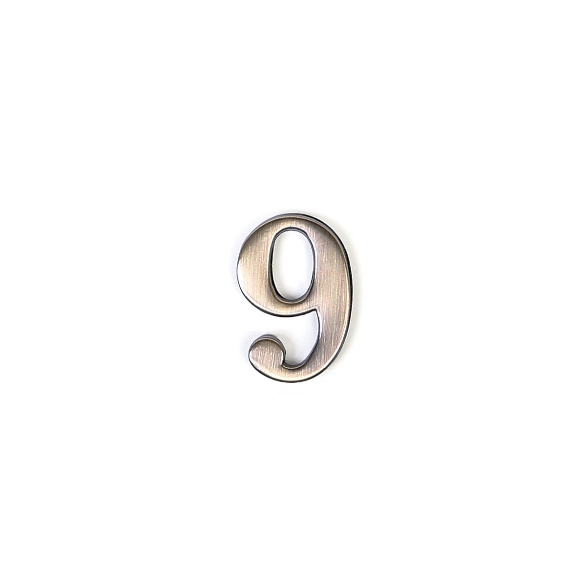 Номер на дверь из цинка Larvij цифра 9 антик бронза (GNZ4 AB #9)