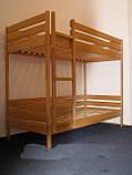 """Двоярусне ліжко """"Дует"""" з бука (щит, масив), фото 4"""