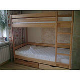 """Двоярусне ліжко """"Дует"""" з бука (щит, масив), фото 6"""