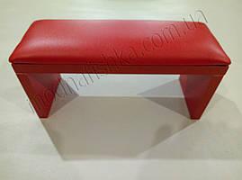 Маникюрная подставка для рук (Подлокотник) красного цвета на красных ножках