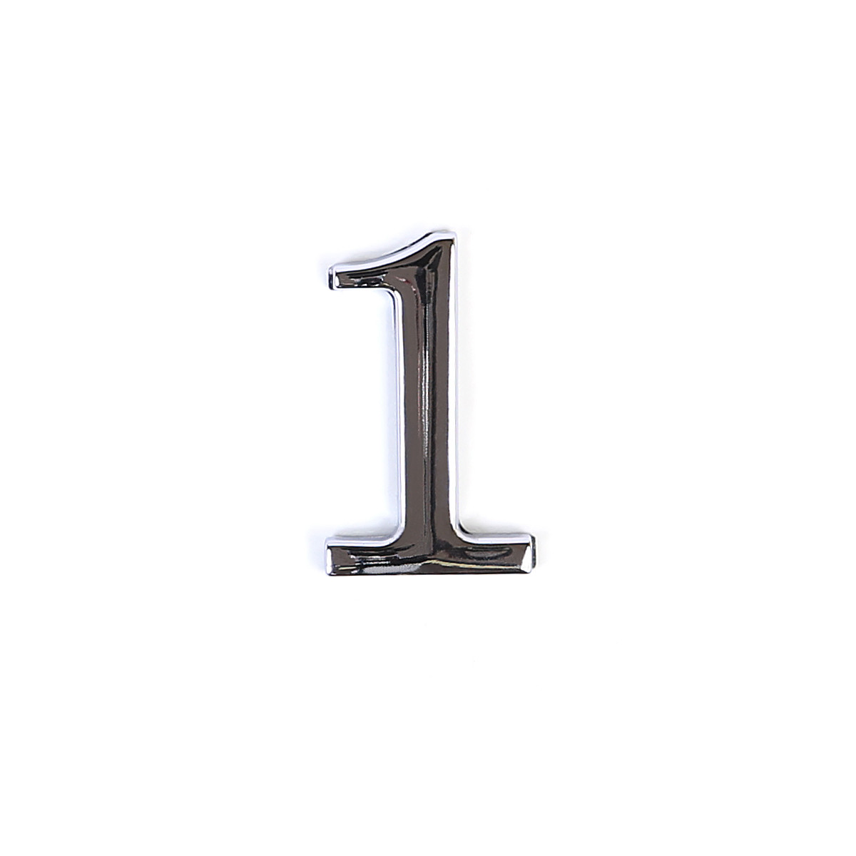 Номер на дверь из цинка Larvij цифра 1 Хром (LNZ4 CP #1)