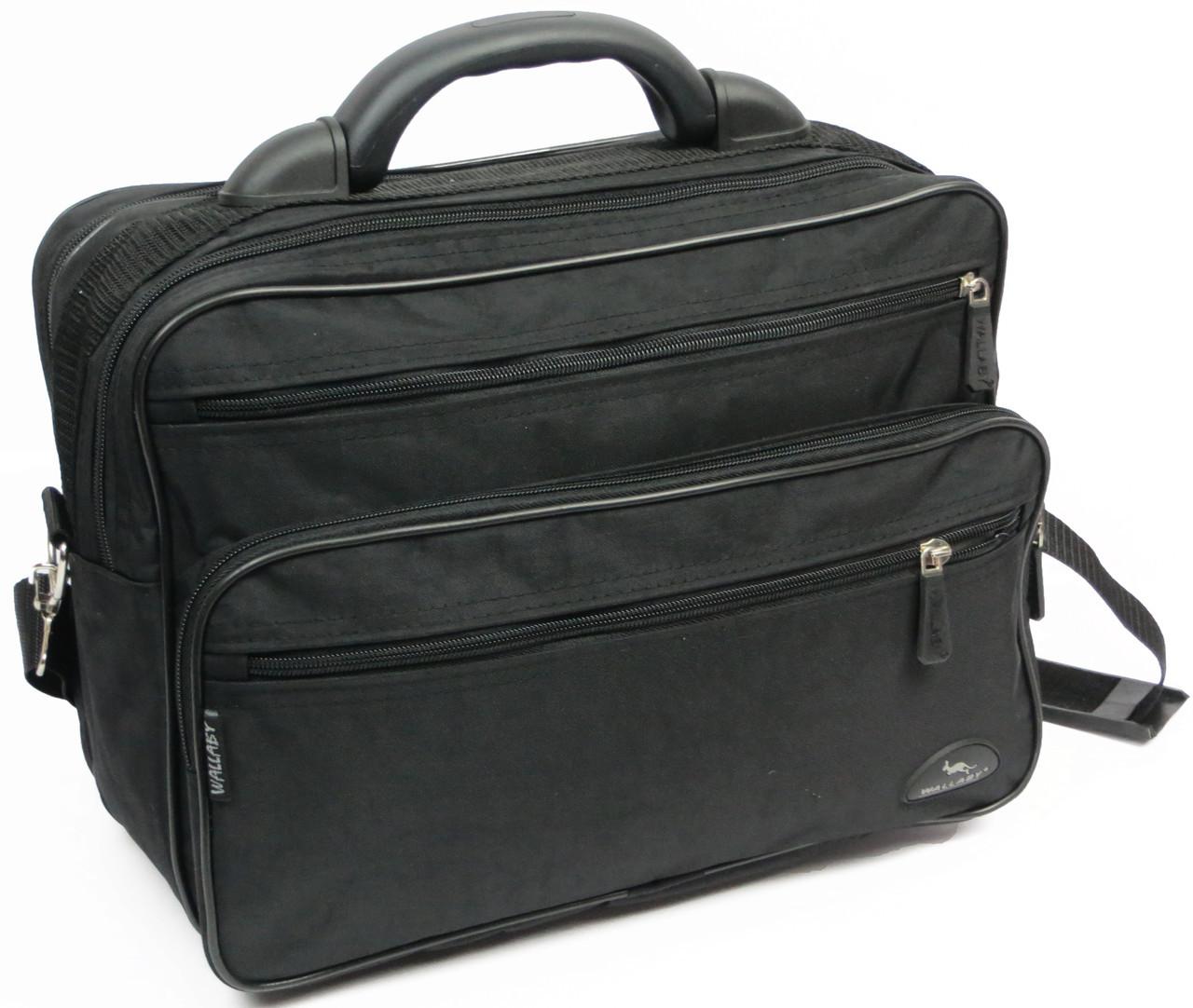 Мужской тканевый портфель Wallaby 2653 черный, фото 1