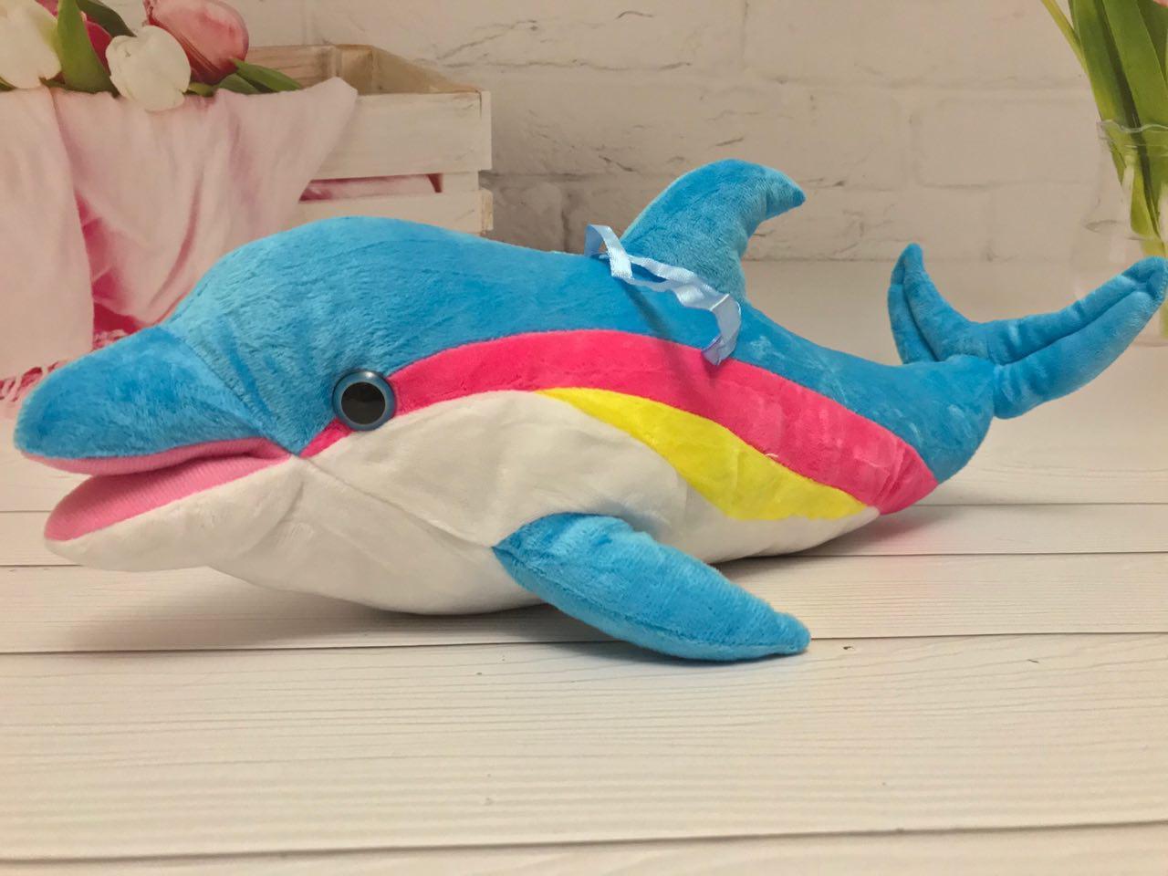 Мягкая плюшевая игрушка Дельфинчик 44см