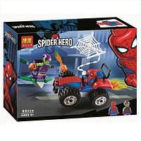 """Конструктор Bela 11184 (Аналог Lego Super Heroes 76133) """"Автомобильная погоня Человека-Паука"""" 65 детале, фото 1"""