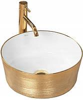 Золотая раковина Rea Alisa Gold/White 36.5 см, фото 1
