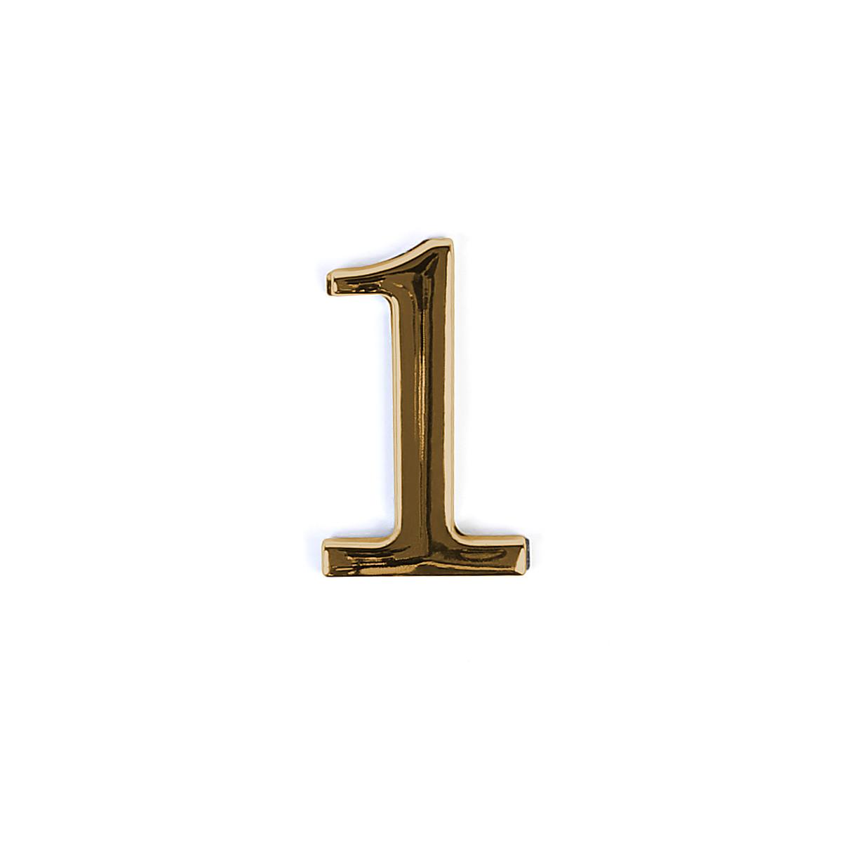 Номер на дверь из цинка Larvij цифра 1 Золото (LNZ4 GP #1)