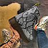 "Женские ботинки Dr.Martens Jadone Snake ""White/Black"", фото 7"