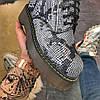 "Женские ботинки Dr.Martens Jadone Snake ""White/Black"", фото 5"