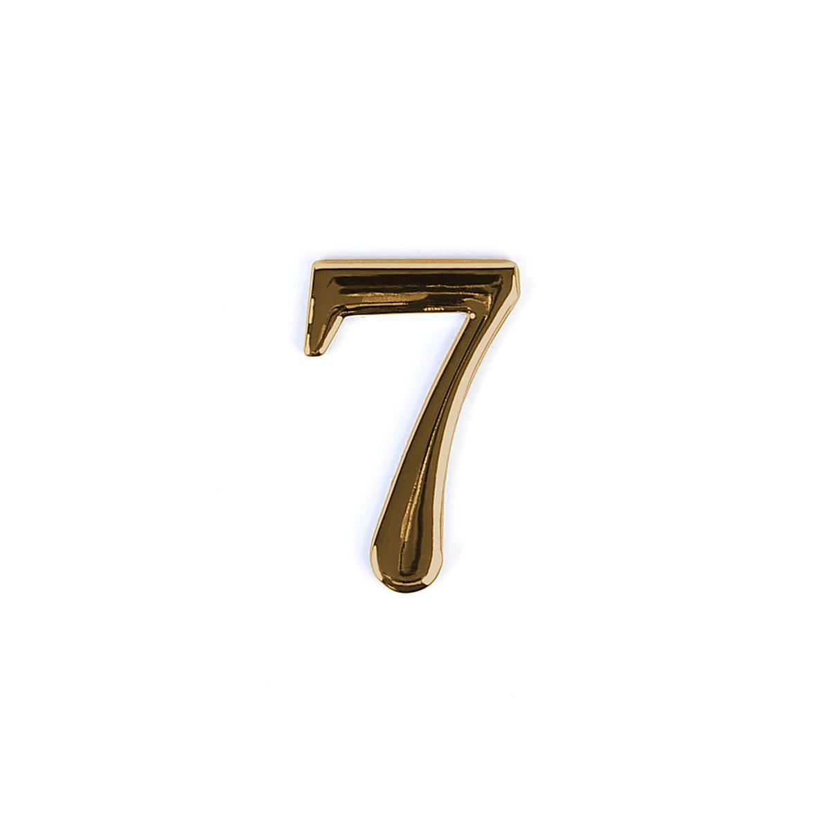 Номер на дверь из цинка Larvij цифра 7 Золото (LNZ4 GP #7)