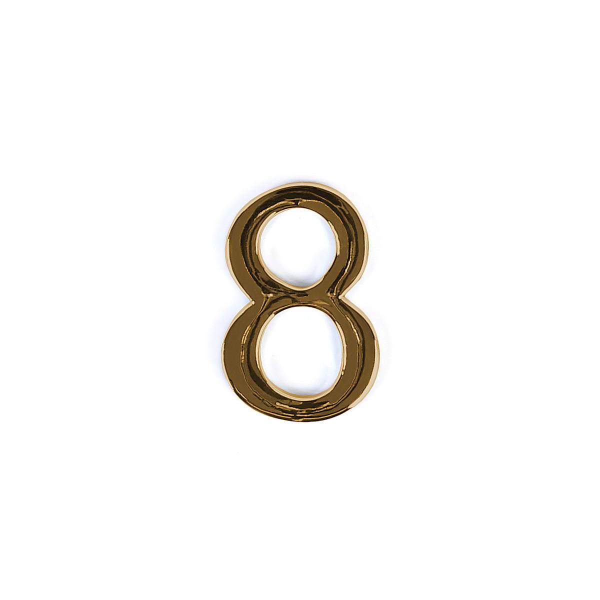 Номер на дверь из цинка Larvij цифра 8 Золото (LNZ4 GP #8)