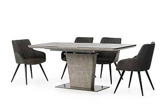 Стол МДФ+стеклокерамика ТМL-540 серый бетон
