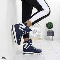 Женские зимние ботинки дутики, АО 7304, фото 1