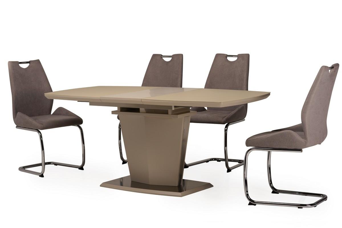 Стол МДФ+матовое стекло TML-700 капучино