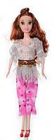 Кукла 3115 с длинными волосами, на каблуках, в костюме для девочки, в кульке   куколка