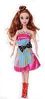 Кукла 3115 с длинными волосами, на каблуках, в платье для девочки, в кульке   куколка