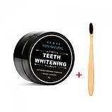 Зубная щетка, из натурального бамбука, мягкая, угольная, 1 шт, фото 4