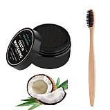 Зубная щетка, из натурального бамбука, мягкая, угольная, 1 шт, фото 5