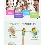 Зубная щетка, из натурального бамбука, мягкая, угольная, 1 шт, фото 6