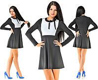 Платье черное с белым кружевом