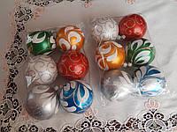 Новогодние шары на елку ручная работа 8см, фото 1