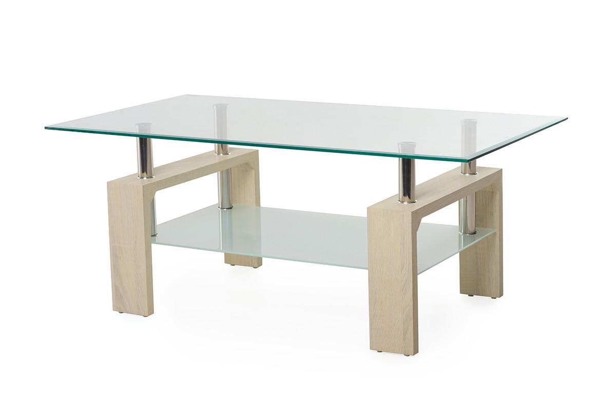 Журнальний стіл C-107-2 білий дуб