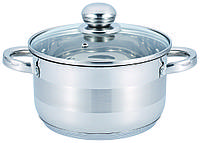 Кастрюля с крышкой из нержавеющей стали Benson BN-216 (1 л)   набор посуды   кастрюли Бенсон