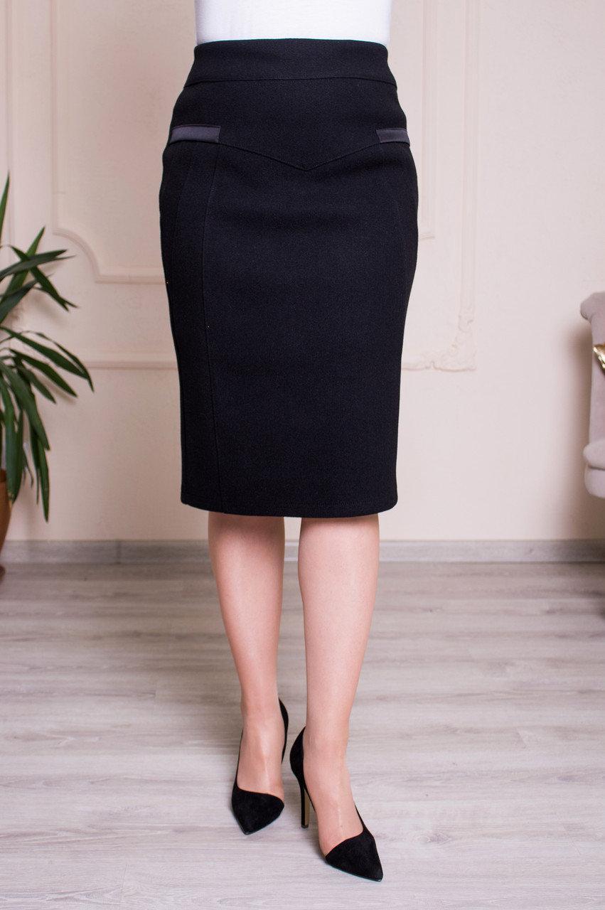 Черная классическая юбка Барбара