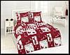 Махровое постельное белье евро Karbeltex Red cat