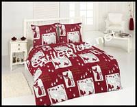Махровое постельное белье евро Karbeltex Red cat, фото 1