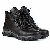 Большие размеры зимние мужские черные кожаные ботинки на овчине обувь Rosso Avangard Pro Lomerflex Black BS
