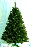 Искусственная елка/ель (ПВХ). Высота 2.0м. Елка с короткой иглой (хвоей). Зеленая + гирлянда.