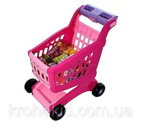 Детская игровая тележка для покупок с продуктами  600B