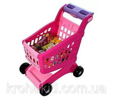 Детская игровая тележка для покупок с продуктами  600B, фото 2
