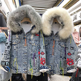 """Куртка джинсова жіноча зимова """"Fashion Джинси"""""""