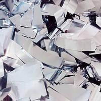 Конфетти-Метафан  серебро премиум 2х6 см