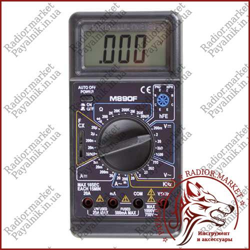 Цифровой мультиметр с емкостью DIGITAL M890F, вольтметр, амперметр, прозвонка (Оригинал)