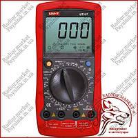Автомобильный мультиметр UNI-T UT-107, тестер для авто, тахометр, температура, частота