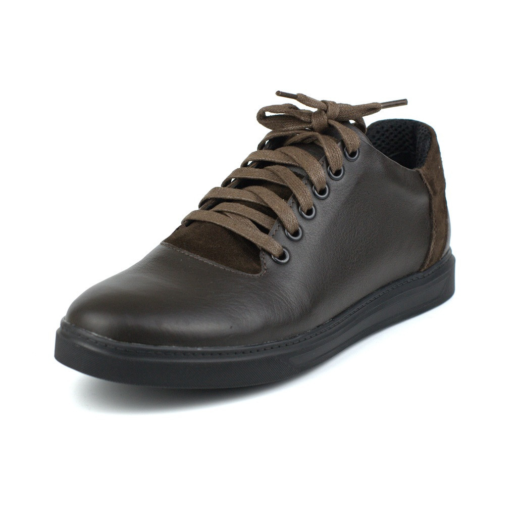 Классические кроссовки кеды коричневые кожаные мужская обувь больших размеров Rosso Avangard Sniker Brown BS