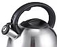 Чайник со свистком из нержавеющей стали Benson BN-709 (3 л), нейлоновая ручка, индукция | свистящий чайник, фото 5