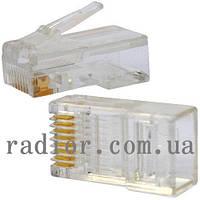 Коннектор интернет 8р8с (RJ-45) штекер под обжим (normal quality)