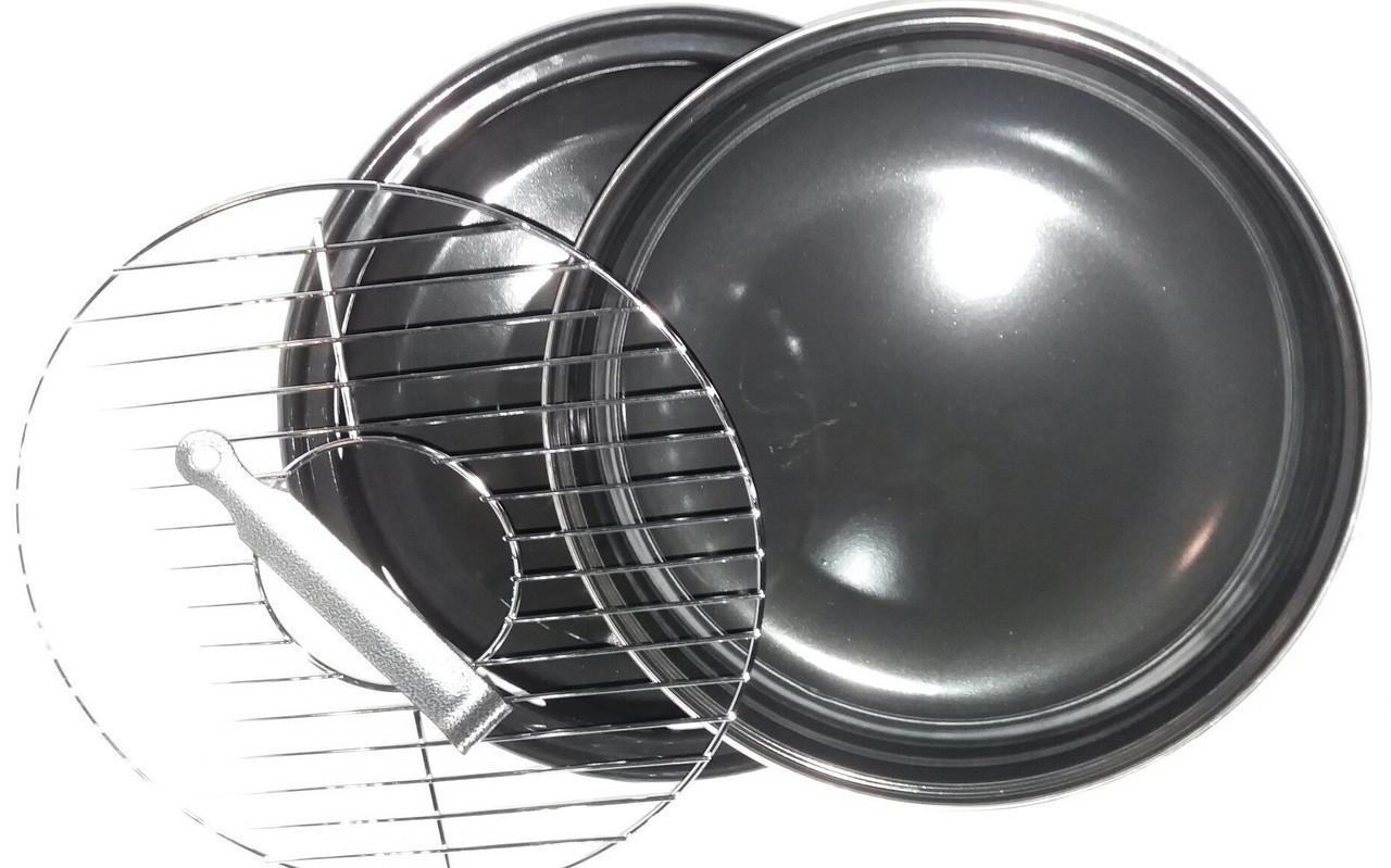 Сковорода гриль-газ Benson BN-801 с эмалированным покрытием | сковородка для гриля на газу эмаль Бенсон