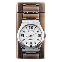 Часы-зажигалка 4097. Отличный подарок. Аксессуар для сигар. Кварцевые часы-зажигалка
