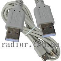 Шнур USB TCOM (шт.A- шт.А), version 2,0, диам.-4.5мм, 2м., серый (5-0721)