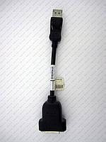 Переходник Display Port (дисплей порт) - DVI (гнездо) на проводе 10см.